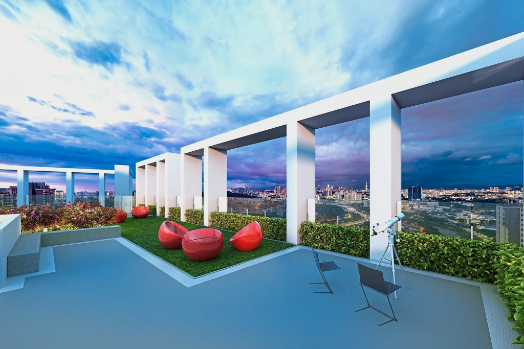 Residents get to enjoy stunning rooftop views.