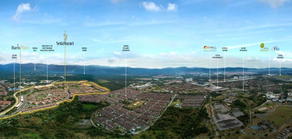 Aerial view of Setia Mayuri