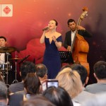 Shanghai based jazz singer Jasmine Chen serenades guests at SDCC's The Roof Garden.