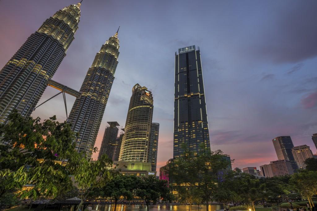An exterior shot of the Four Seasons Hotel Kuala Lumpur.