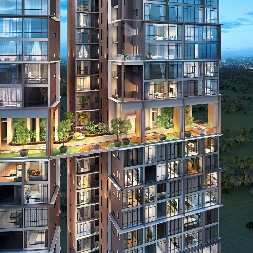 The Peak is an ultra-low density residence with only two to four units per floor in a premier location.