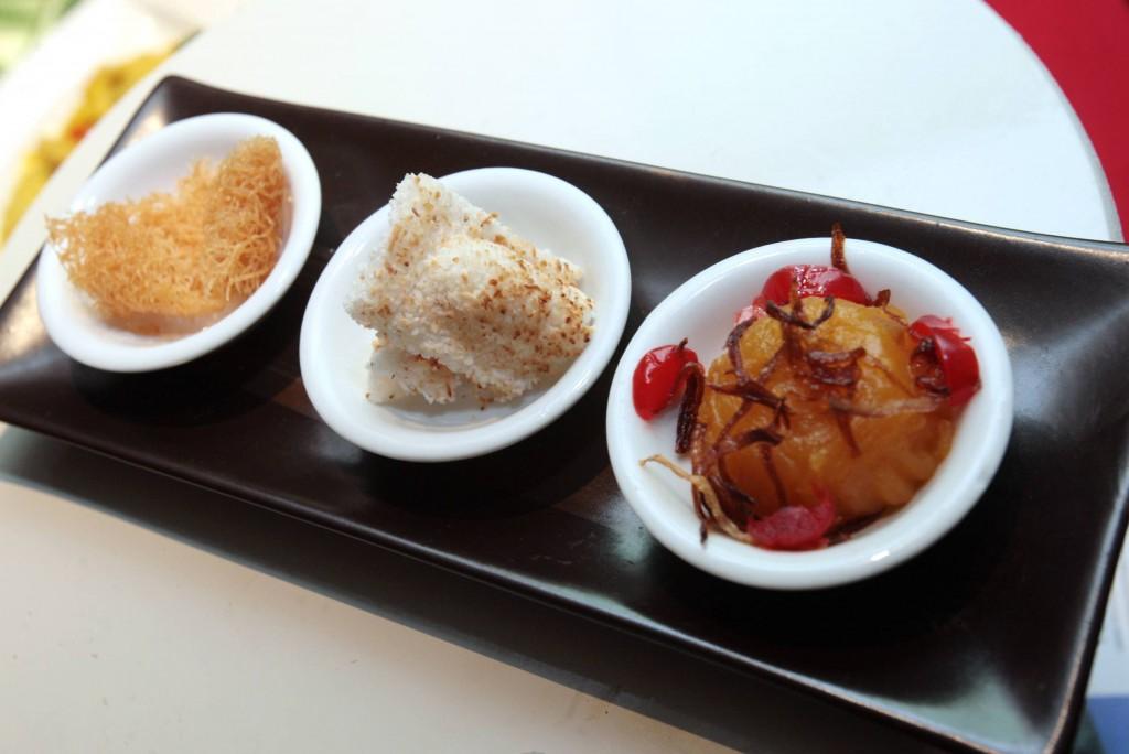 Dessert from three states (from left) Kuih Karas, Kuih Dangai and Kuih Asyik.