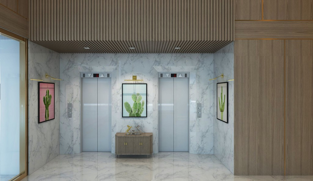 The BK Apartment includes a secured lift lobby.