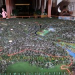 """Model of real estate property """"Viva Villa"""" developed by Ping An Real Estate is seen at a showroom in Xishuangbanna, Yunnan"""