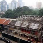 The refurbished Heritage Row in Jalan Doraisamy where 22 shoplots have been refurbished.