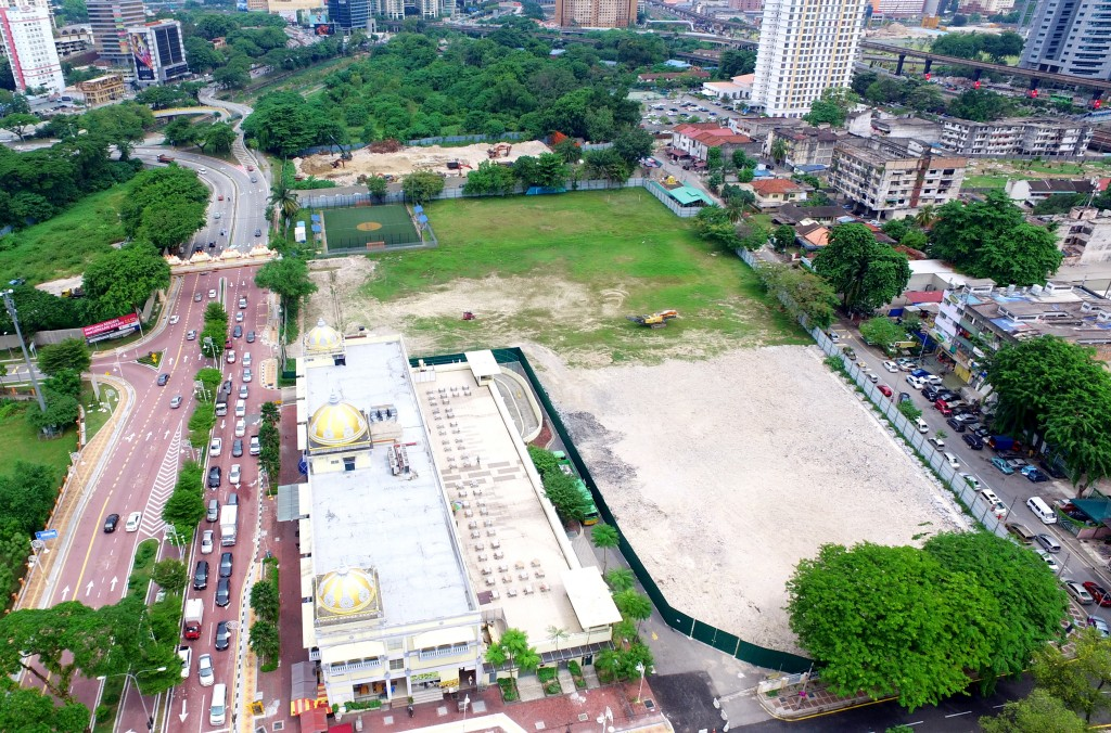 The now flattened DBKL sports club land that will see a new, 50 million ringgit club house coming up in 2020.