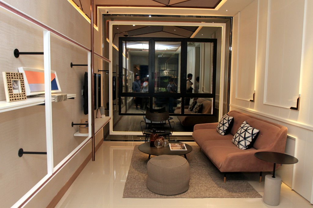 The showroom for one of OSK Property's You City III three-bedroom layouts in Cheras, during the official launch of its integrated transit-oriented development You City III.