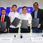 (From left) Campus Managing Rangers director Jason Ho, MRCB Land CEO Raymond Cheah; SKM Market managing director Andy Cham Wing Kian and SubHome CEO Sandeep Singh Grewal at the signing  ceremony