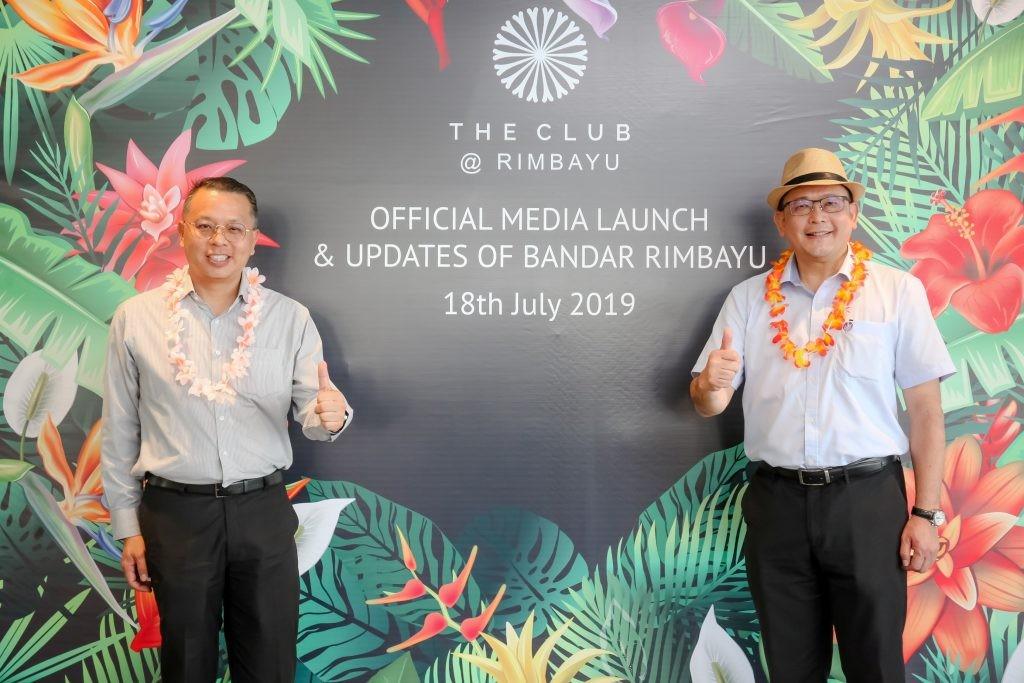 IJM Land Bhd managing director Edward Chong and Bandar Rimbayu senior general manager Chai Kian Soon.