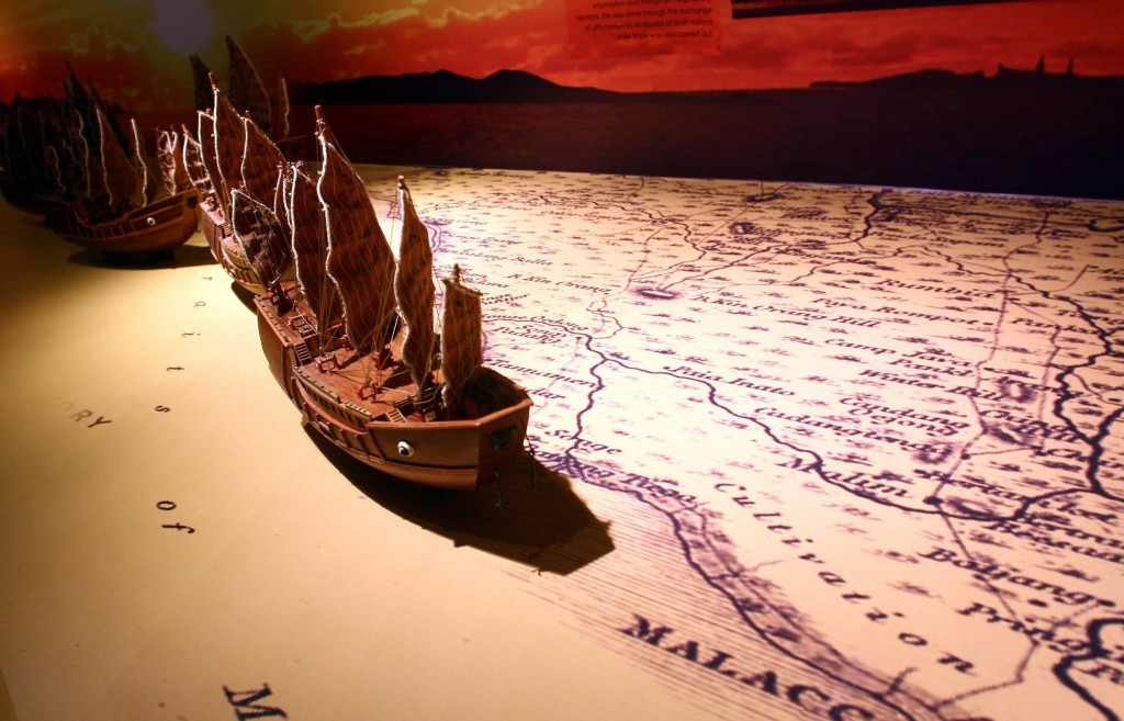 Malacca was where the story of Malaysia officially began. A fleet of ships arriving from across the world is depicted with miniature models to show how the state was once a trading hub for all sorts of precious commodities which eventually led to it being conquered by various foreign powers.