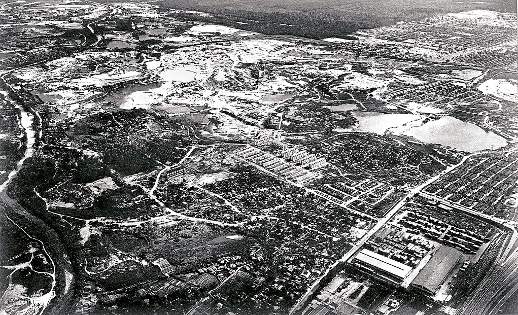 Sunway City aerial view before construction.