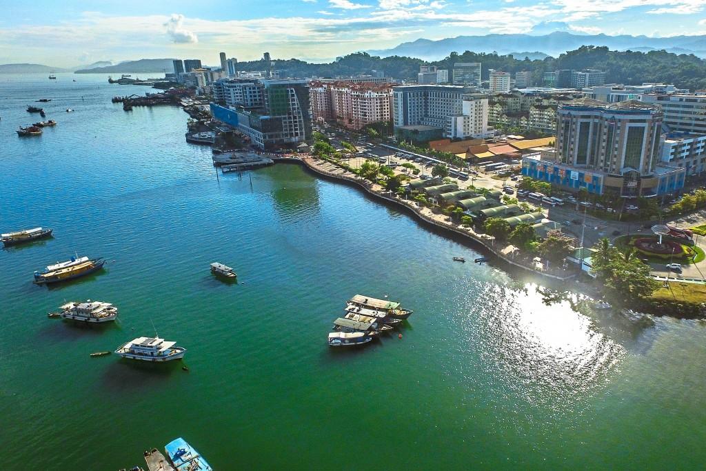 Aerial photo of Kota Kinabalu.