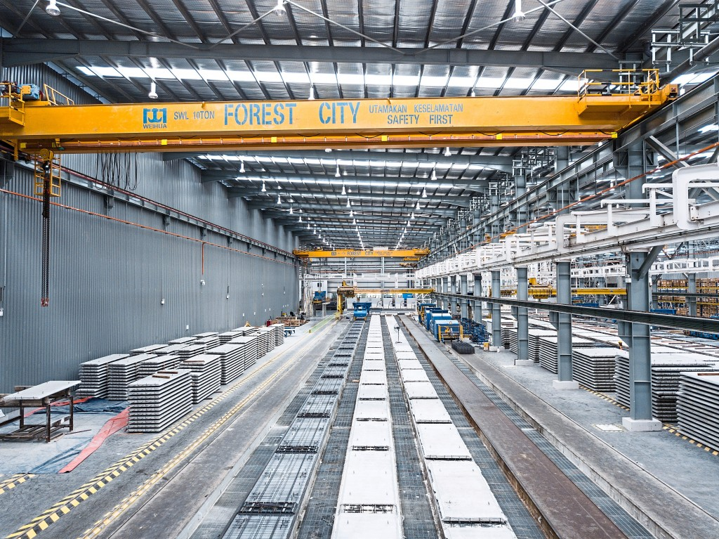 Forest City's Industrialised Building System (IBS) Plant has entered the Malaysia Book of Records (MBR) as the largest fully automated IBS factory in Malaysia.