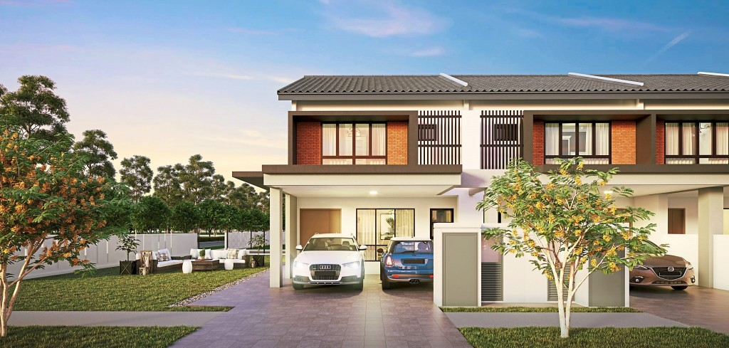 Rimbun Kiara's two-storey terrace houses are family-oriented.