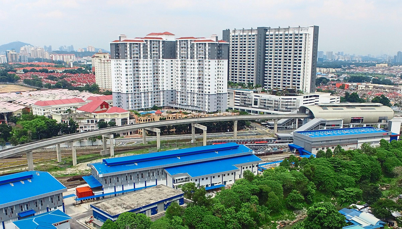 Drone shot of the housing project near Ara Damansara.