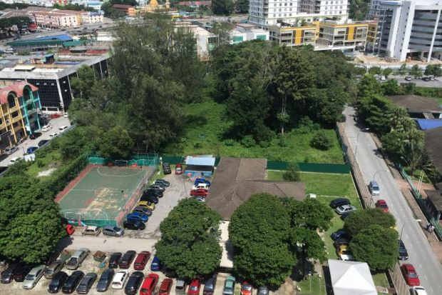 An aerial view of the proposed public park in Taman Melawati Ampang. A convention centre will now be built on the site, causing residents to voice their dismay.