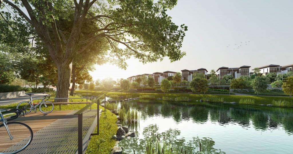 丽阳恒庭最新的住宅Ridgefield Residences 涵盖奢华半独立式洋房以及三和四层联排别墅式洋房。