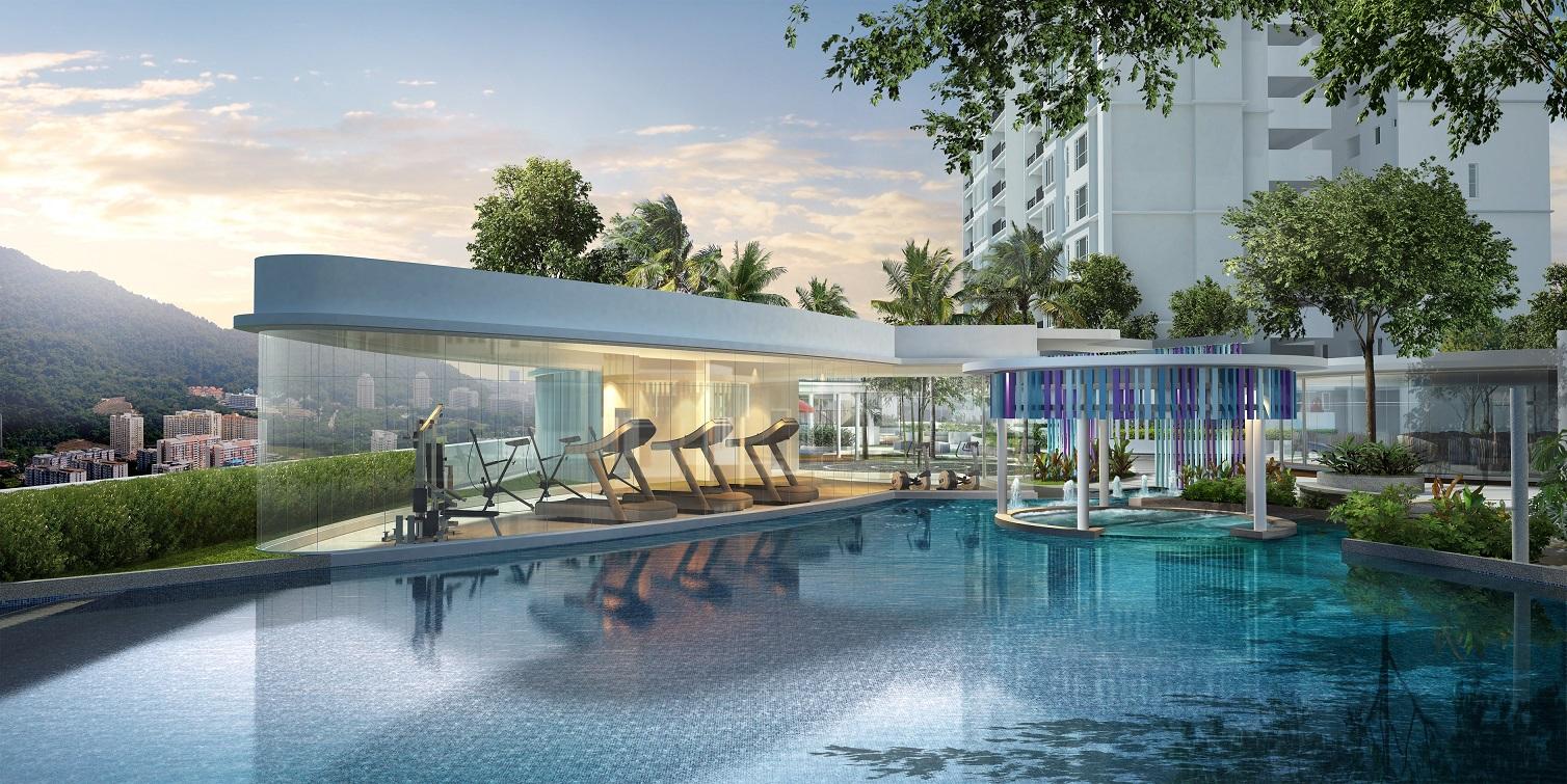 The Amarene主打翠绿悠闲,其公寓设施划分和安置在不同主题区。
