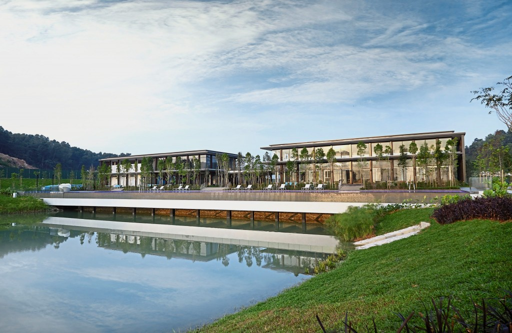 Clubhouse by the lakeside