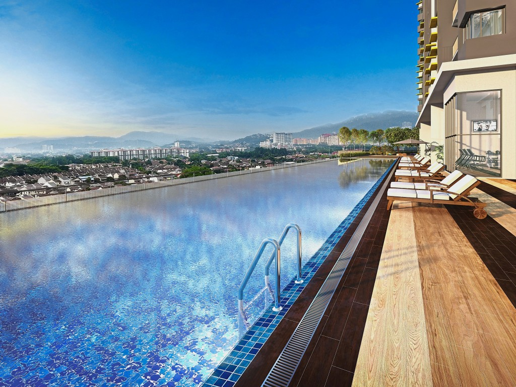 Embrace moments of buoyancy while relaxing in the delightful pool at PV18 Residence.