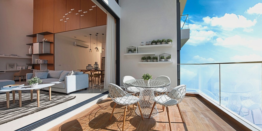 Spacious balconies for families to relax and unwind.
