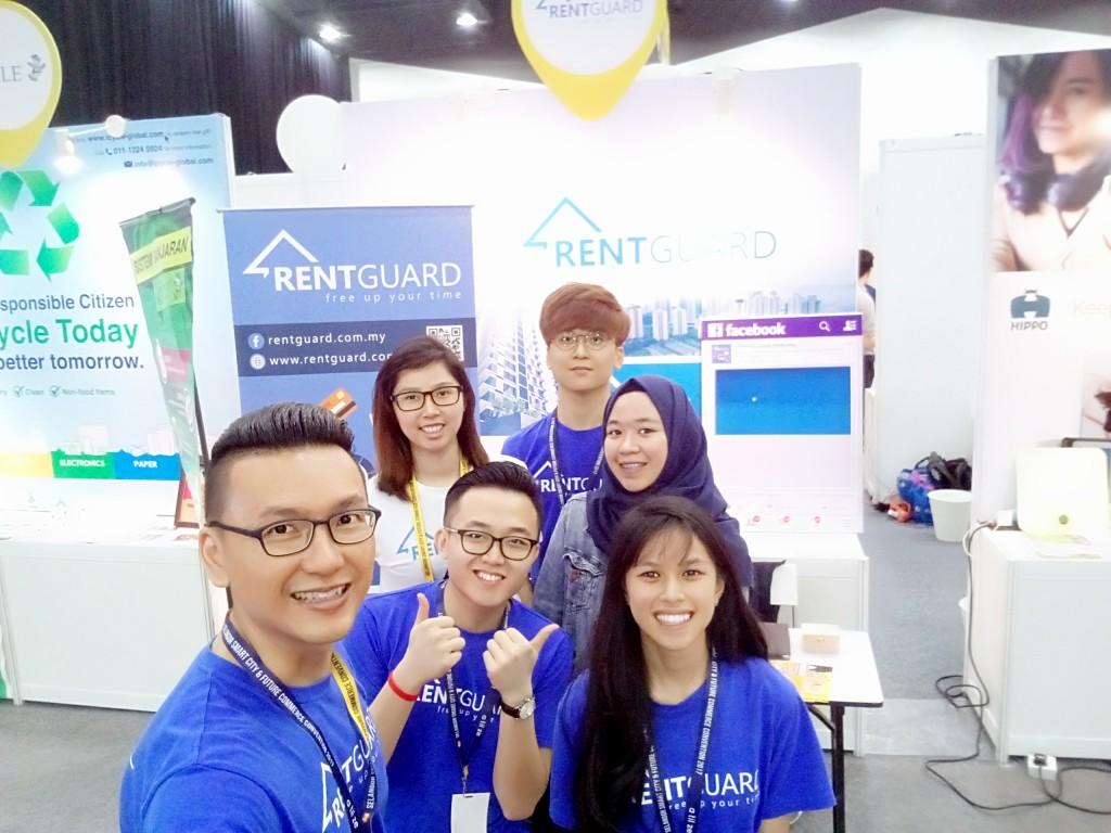 朝气勃勃的RentGuard 团队参加由雪兰莪州政府举办的 2017年雪州精明城市与科技大会。