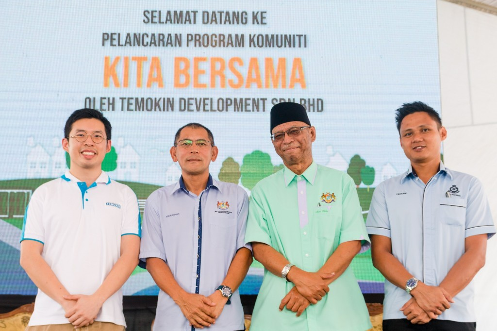 Groupshot: (from left to right) Temokin Development Sdn Bhd Chief Executive Officer, Tan Chien Chyi, MPPG Urban and Rural Planning Department officer, Tuan Haji Nor Rahman bin Mustaffa, Ahli Majlis