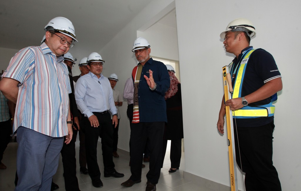 SkyWorld project SkyAwani2 topping off ceremony NORAFIFI EHSAN / The Star