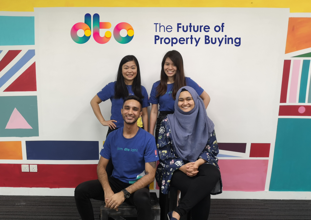 dto co-founders and team members: (standing, from left to right) Marie, Ee Lynn, (sitting, from left to right) Sonel, and Mulyani.