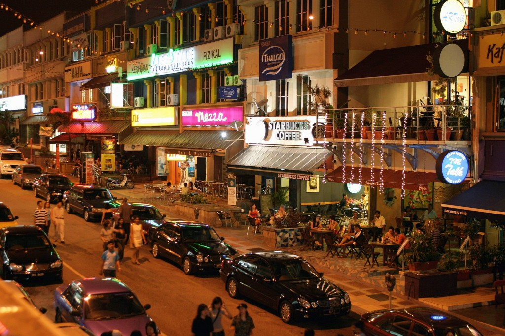 The night life in Bangsar is popular among the younger crowd and expatriates.  20051112   StarMetro Central   Pg2 - Razeef Outsidethetriangle Pix without caption. 20060405   Rage   Pg7. - Amir EMBRACING ARA Jalan Ara forms an embrace around the Jalan Telawi area. - Filepic 20091030  StarMetro Classifieds   Pg1 - Yusof