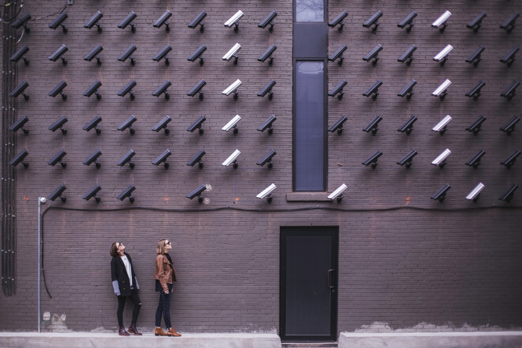 Pictured: not an efficient arrangement of CCTV cameras. Photo by Matthew Henry on Unsplash.