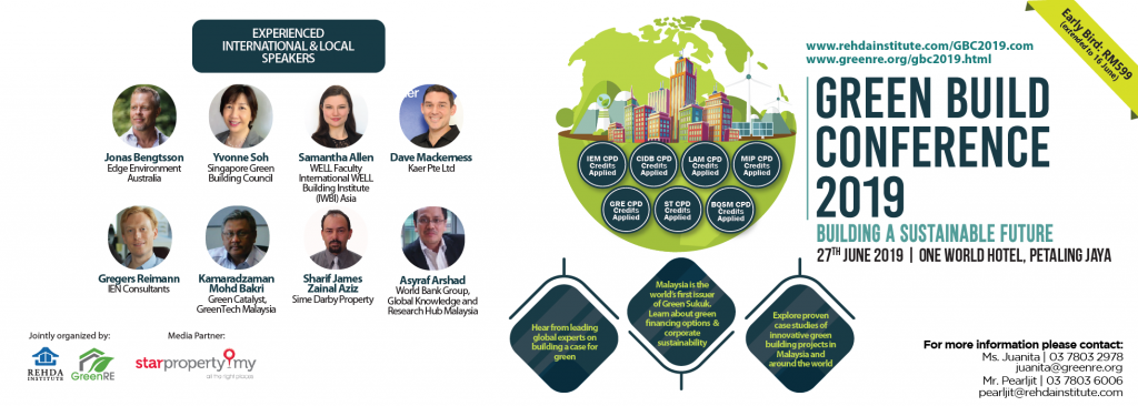 Green Build Conference 2019 is happening on 27th June at One