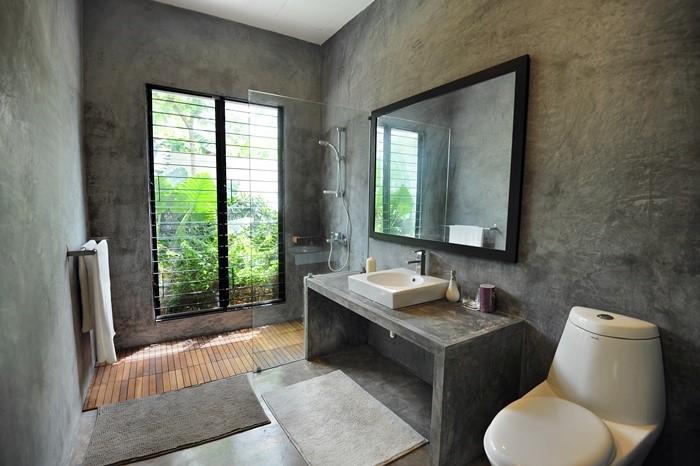 改造过时的浴室变成一个现代又时尚的空间。