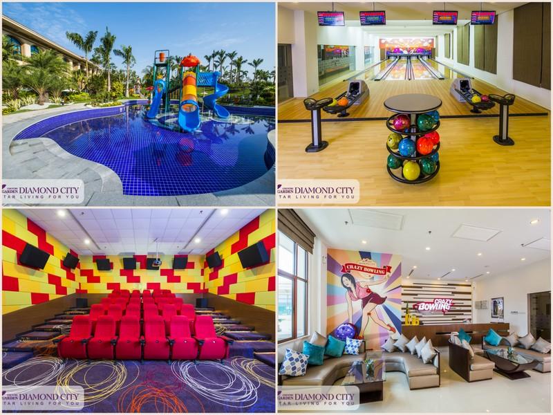 钻石城设有五星级俱乐部,里面休闲设施一应俱全,为住户设想周全。