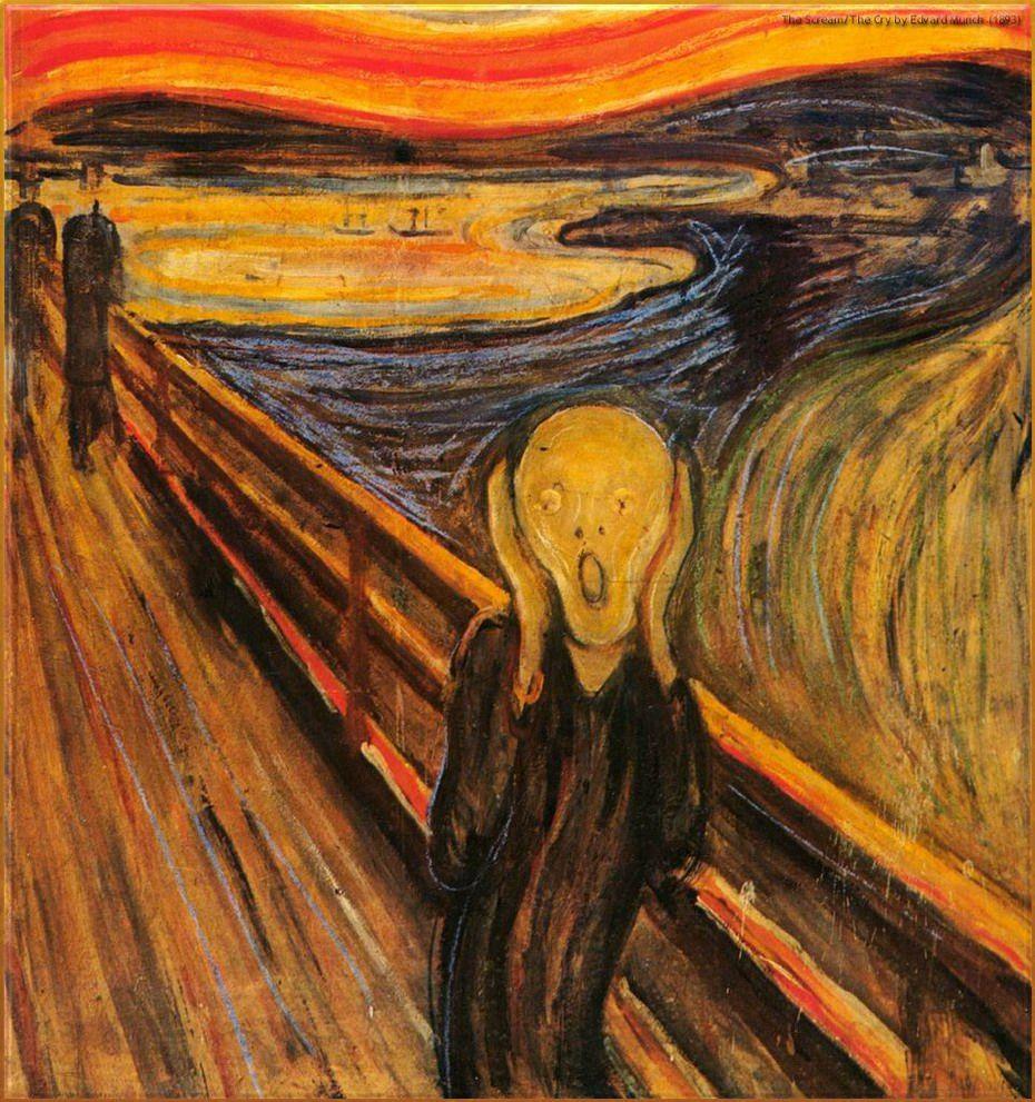 世界名画「呐喊」虽具有艺术感,但并不适合挂在家中装饰。
