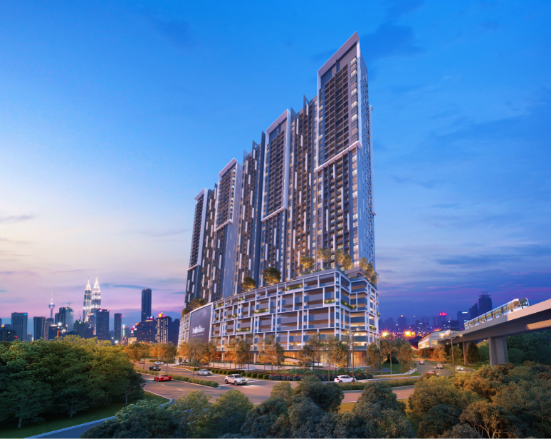 Residents can enjoy SkyMeridien's facilities or hop onto the LRT to the city.