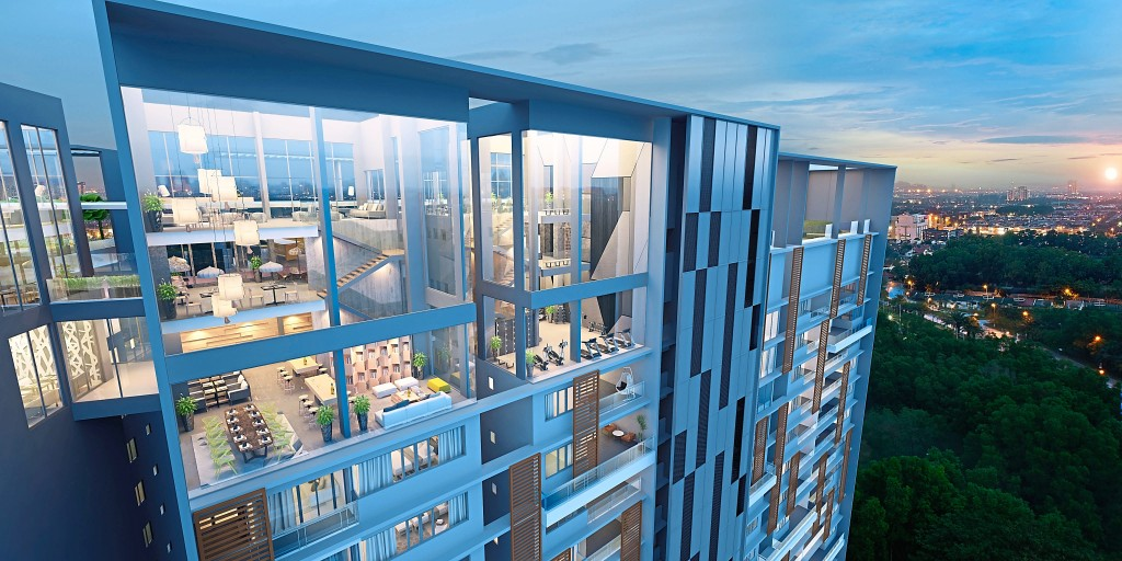 Features like the triplex Sky Lounge and Sky Gym design by SkyWorld Development Group feels luxe.