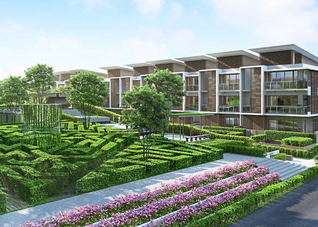 An artist impression of GEOLake Townhouses.
