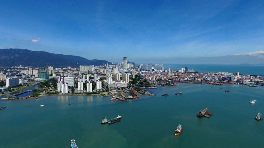 George Town from a drone camera. Image by Se Vena Networks.
