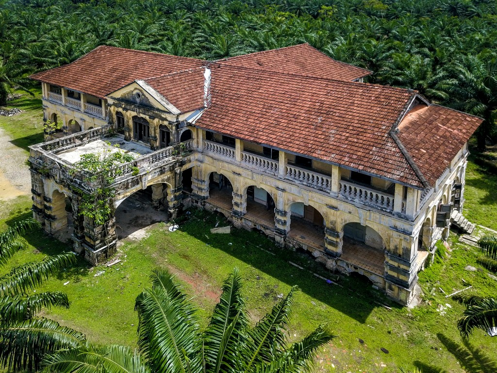 The colonial mansion which locals refer to as the
