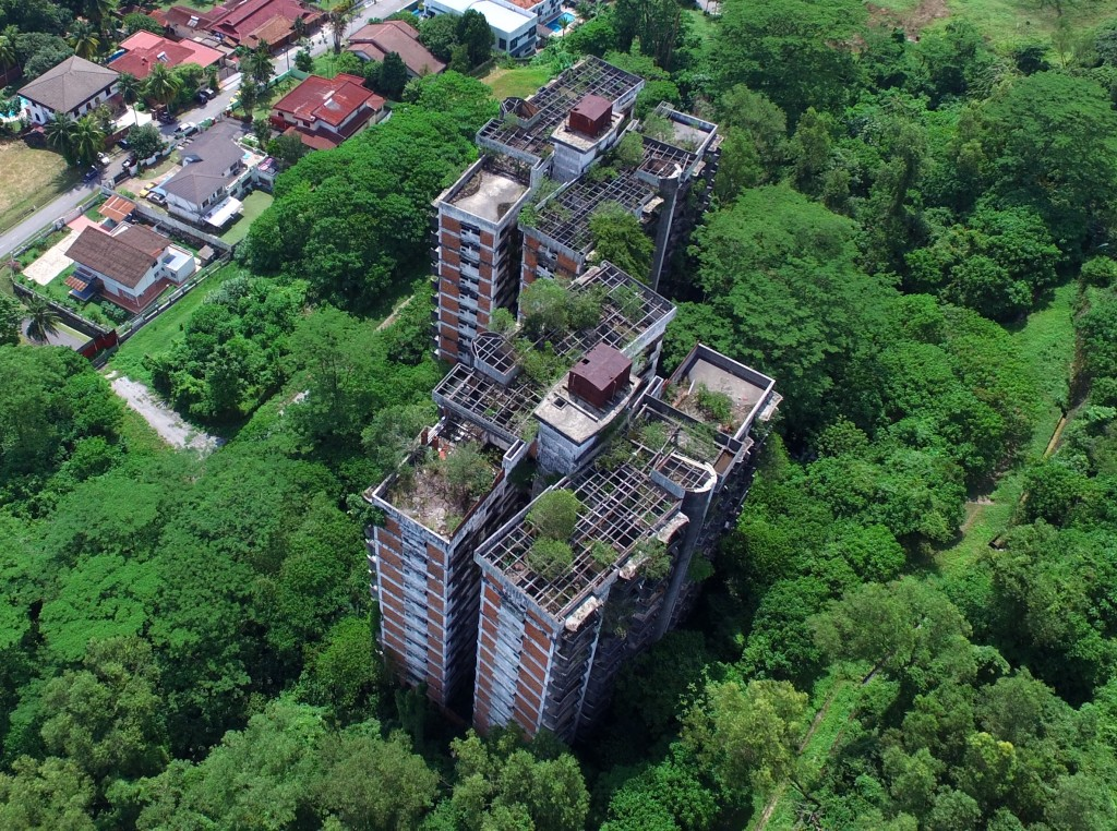 An aerial view of what remains of the Highland Towers, Kuala Lumpur. FAIHAN GHANI/The Star.