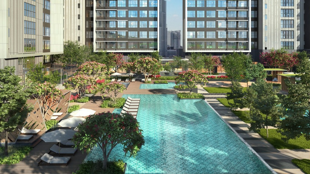 Inspired by Malaysia's natural landscape, the design seeks to introduce an exclusive resort lifestyle within an urban oasis.