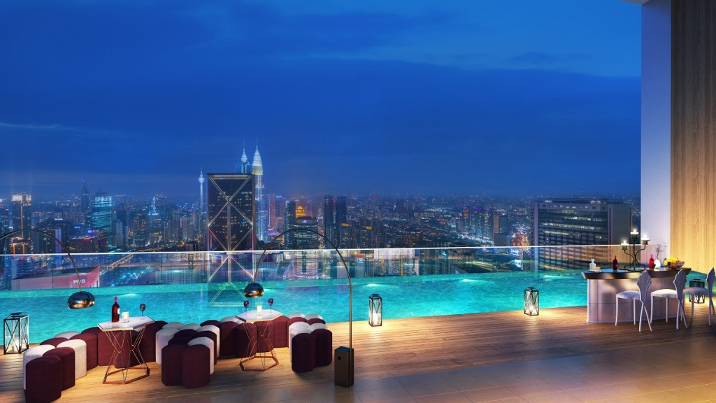 At more than two hundred metres above ground, the sky lounge and the infinity pool offer a breath-taking venue for social gatherings and recreational activities.
