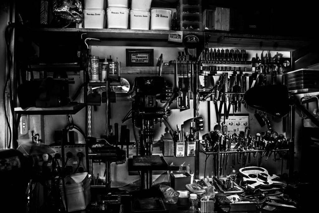 Pictured: Not your average home workshop. Photo by Carlos Irineu da Costa on Unsplash.