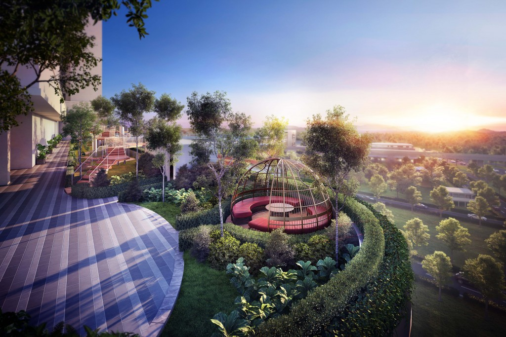 Trion@KL is designed to be an urbanite's haven in the city, with 1.2 acres of landscaped lush greenery and a breathtaking vista of the city centre.