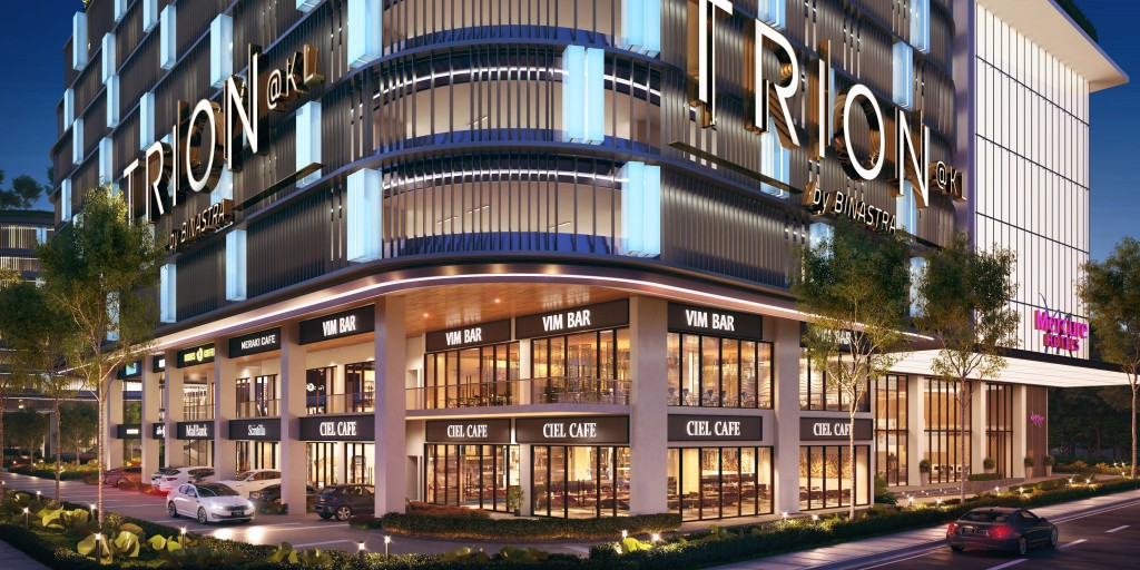 Under its serviced apartments, Trion@KL has incorporated 38 retail units for the convenience of its residents.
