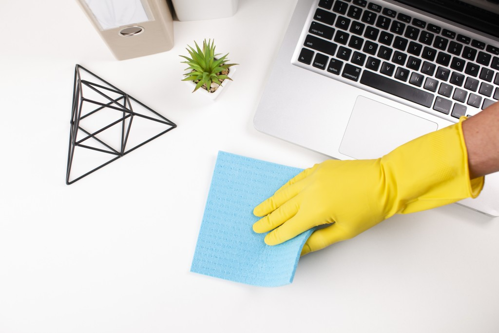 Keyboards, laptops, phones, tv remotes and other handheld devices should also be disinfected to prevent the virus from spreading.