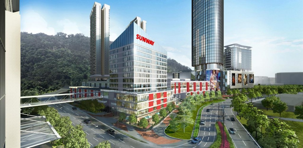 An artist impression of Sunway Valley City