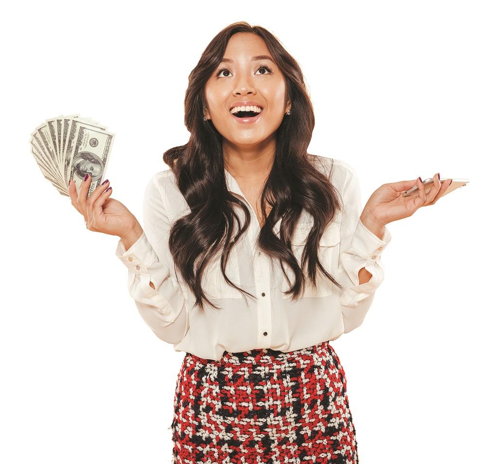 Portrait of a happy asian woman