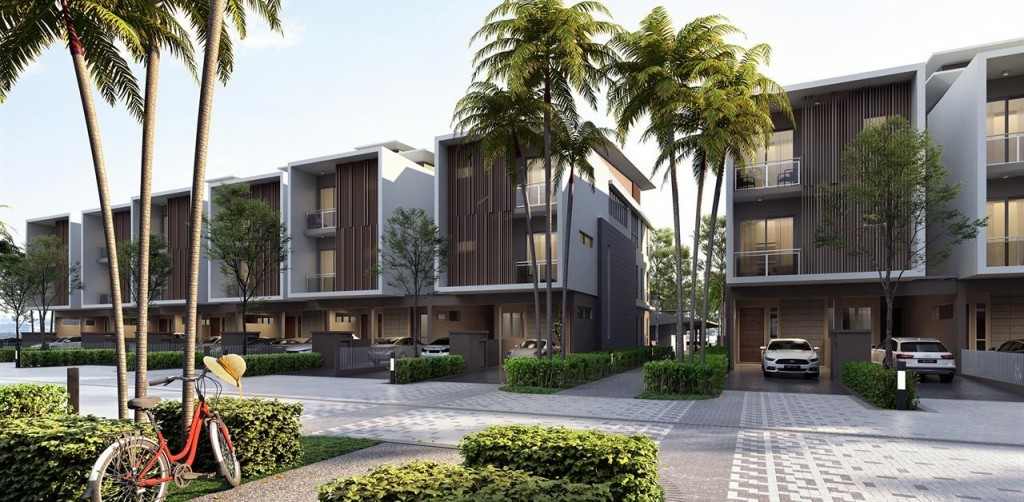 Modern and elegant facade with spacious and practical layout.
